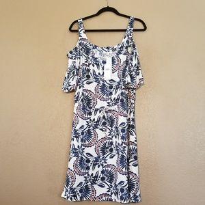 NWT Ella Moss Cold Shoulder Midi Dress